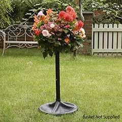 The Easy Fill Hanging Basket Pedestal Planter