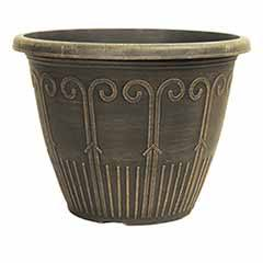Cocoa Gold Art Deco Planter