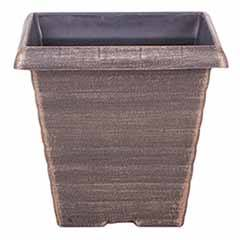'Biscotti' Square Planter 17.5cm (7in) Black Bronze