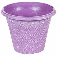 'Prisma' Round Planter 30cm (12in) Raisin Purple