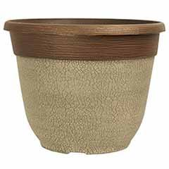 'Crackle' Round Planter 30cm (12in) Ceramic White