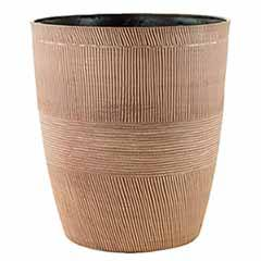 Sand Thatched Planter 25cm (10in) Caramel
