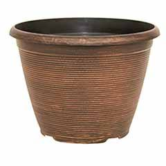 'Helix' Round Planter 25cm (10in) Warm Copper