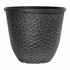 Hammered Round Planter 30cm (12in) Silver Tone