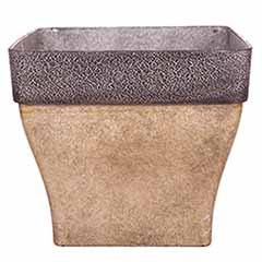 'Diablo' Square Planter 36cm (14in) Brown