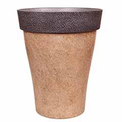 'Diablo' Round Planter 43.5cm (17in) Brown