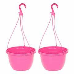 Pink Hanging Baskets - Pair