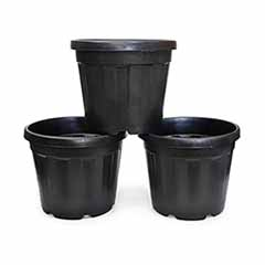 Set of 3 x 30L Black GRO Planters