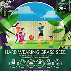 Multi-Purpose & Hardwearing Grass Seed Mix - Back Lawn, 1kg