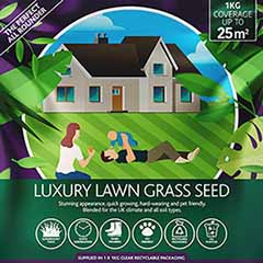 Luxury Lawn, Premium Grass Seed Mix,1kg
