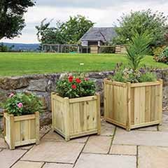 Holywell Wooden Planters