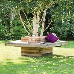 Lucy Planter Bench