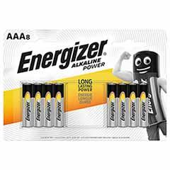 Energizer AAA Alkaline Power Batteries - 8 Pack