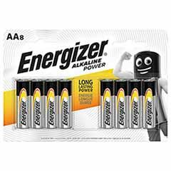 Energizer AA Alkaline Power Batteries - 8 Pack