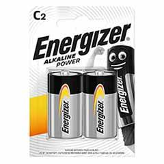 Energizer C Alkaline Power Batteries - 2 Pack