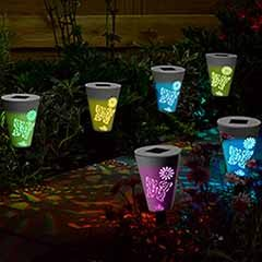 Butterfly Silhouette Stake Light - 6 Pack