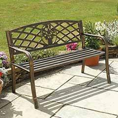 Coalbrookdale Garden Bench -Bronze