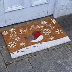 Snowy Robin Décoir Mat