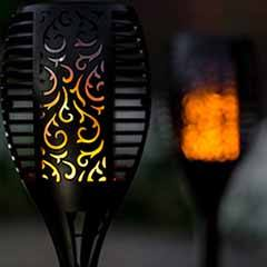 TrueFlame Mini Solar Torch Light 2pk