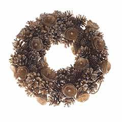Everlasting Gold Pinecone Wreath