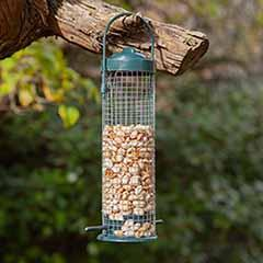 Bird feeder - filled with 250g of peanuts