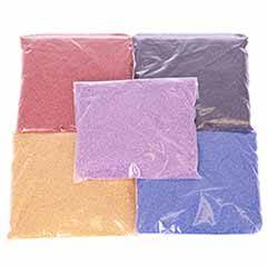 Colourful Sand Packs - 5 x 250g Bright Colours Bags