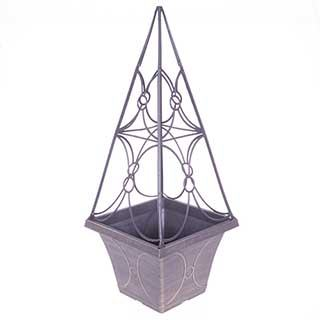 Gold Trellis Planter 60cm tall - 6 litres