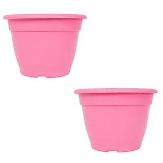 Pair of 28cm Bella Pink Planters