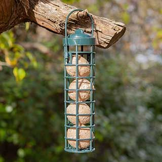 Bird feeder - filled with 4 fatballs