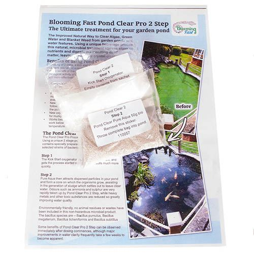 Blooming Fast Pond Clear Pro 2 Step - Small Pack