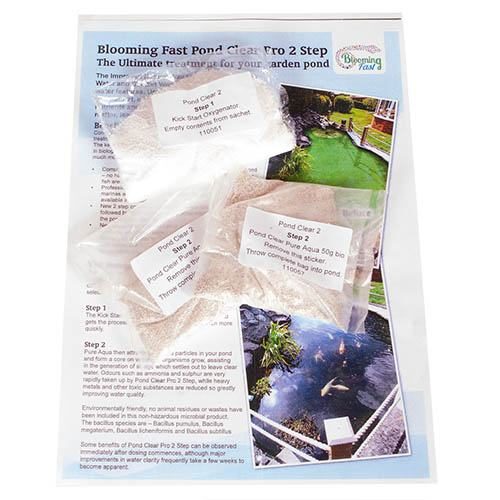 Blooming Fast Pond Clear Pro 2 Step - Medium Pack