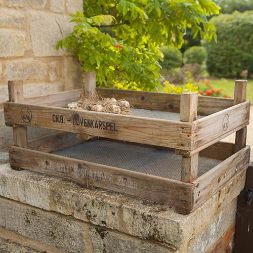 Apple Crate Raised Beds
