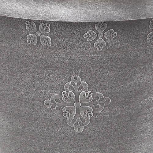 Medley Round Planter 36cm (14.5in) Silver
