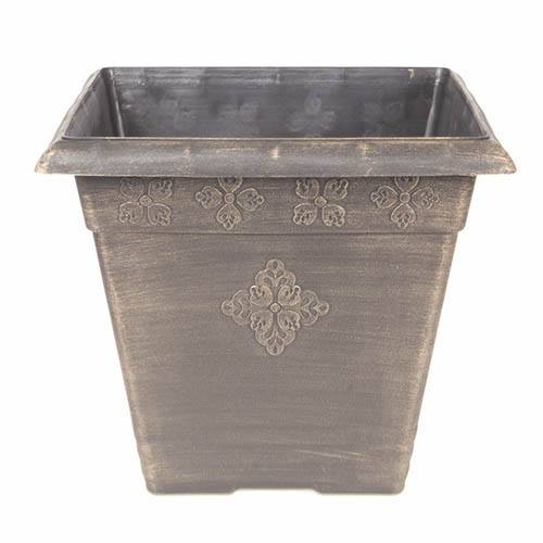 Medley Square Planter 37cm (14.5in) Bronze