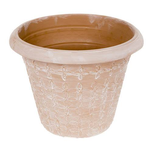 Aged Terracotta style planter 34cm