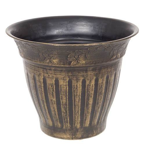13.5 34cm Floral Fluted Planter Gold