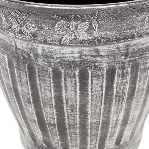 Pair 13.5 (34cm) Fluted Silver Planters