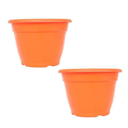 Pair of 28cm Bella Orange Planters
