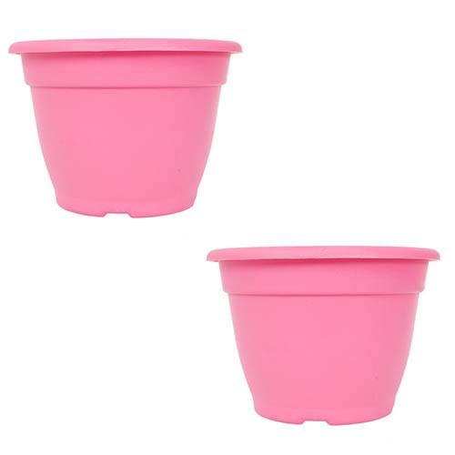 Pair of 28cmBella Pink Planters