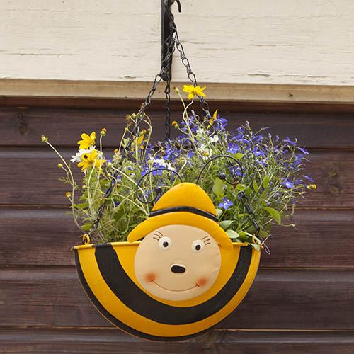 Pair of Wobblehead Hanging Baskets