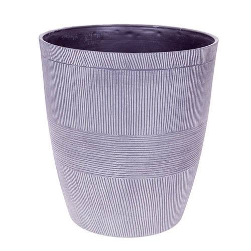Sand Thatched Round Planter 25cm (14in) Ebony Grey