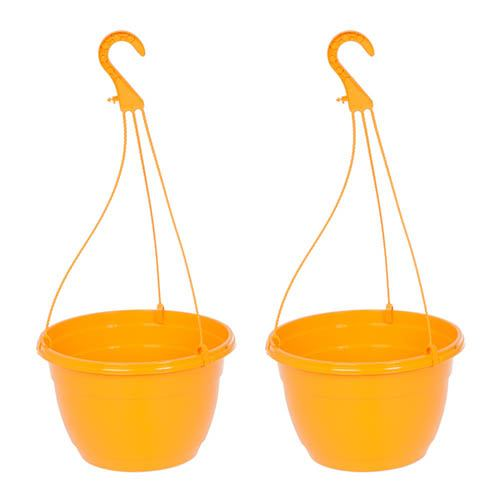 Orange Hanging Baskets - Pair