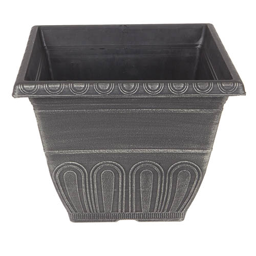 'Valencia' Square Planter 30cm (12in) Gold Brushed Marshland