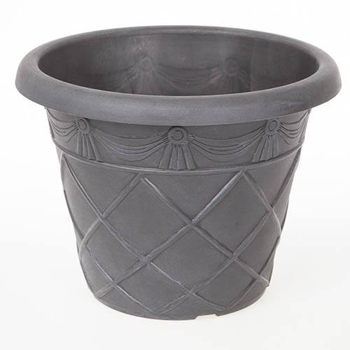 Tuscany Roman Round Planter 34cm (13in) Ebony Grey