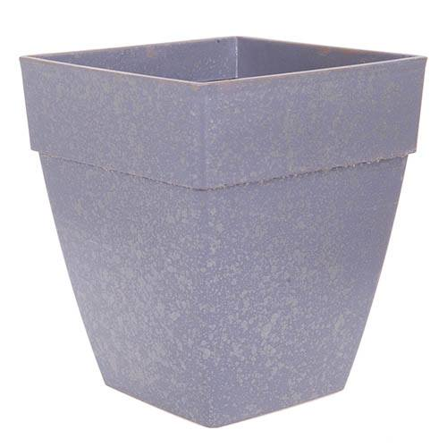 Premium, Galvanised-effect Square Planter 36cm 14in