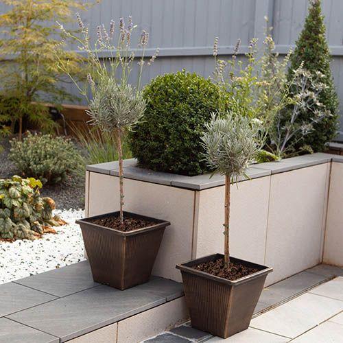 Pair of Black Bronze Vertical Square Planters