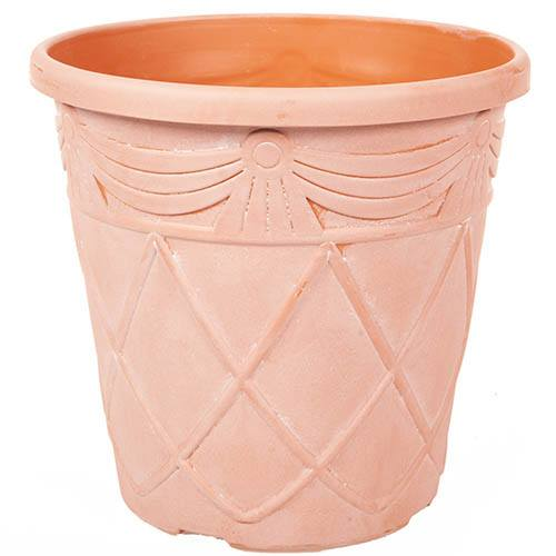 Set of 3 Tuscany Roman Round Planters 25cm (10in)  Aged Terracotta