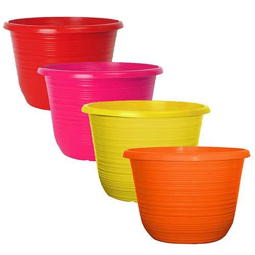 Set of 4 Bellagio 10 Coloured Planters