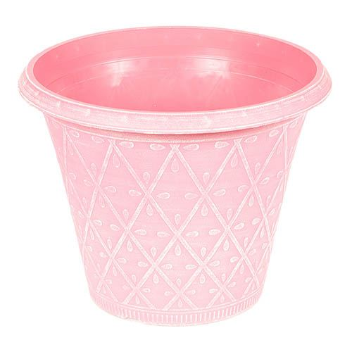 Prisma Round Planter 30cm (12in) Raspberry Pink