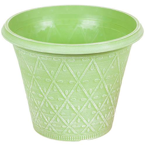 Prisma Round Planter 30cm (12in) Green